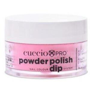Cuccio Pro - Powder Polish Nail Colour Dip System -Bright Pink with Gold Mica 0.5 oz.