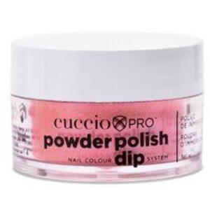 Cuccio Pro - Powder Polish Nail Colour Dip System -Rose with Rainbow Mica 0.5 oz.