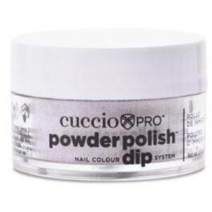 Cuccio Pro - Powder Polish Nail Colour Dip System -Silver with Baby Pink Glitter 0.5 oz.