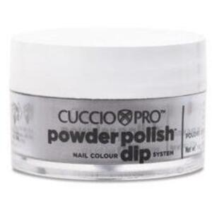 Cuccio Pro - Powder Polish Nail Colour Dip System -Black with Red Glitter 0.5 oz.