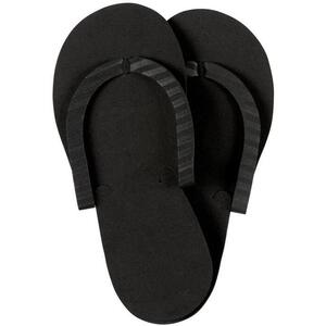 Complete Pro Pedi Slippers - BLACK 12 Pairs per Pack X 40 Packs = Case of 480 Pairs