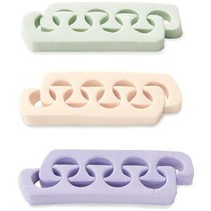 Complete Pro Toe Separators - Assorted Colors LAVENDER SAGE & ECRU 12 Pairs