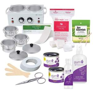 Plum Smooth Student Fundamental Wax Kit with Warmer