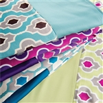 "Sposh Reversible Blanket Moroccan Collection 58"" x 85"" - Available in Coffee Blue Agate Magenta White & Moonstone Black"
