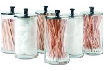 Glass Dispenser Jars with Covers (KDJ6)