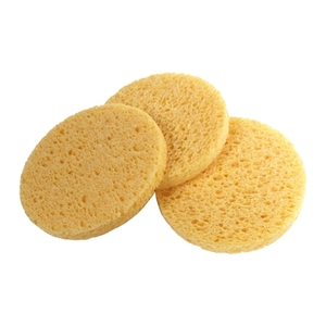 Round Non-Compressed Sponges Natural 10 Count