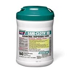 "Sani-cloth HB 6""X6.75"" Wipes 160Tub (025 0013)"