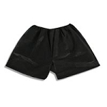 Black Disposable Boxer- 6 Pack (351 0031)
