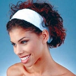 Terry Headband With Velcro White (353 0001)