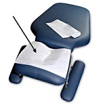 "Headrest Squares with Face Slot Premium 12""X12"" ("