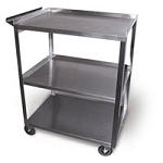 Stainless Steel Cart 3 Shelf with Handle 16'x24'