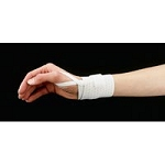 Universal Elastic Wrist Band with Thumb Loop White