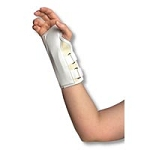 "6"" Canvas Cock-up Wrist Splint Right Large (718 00"