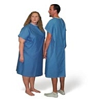 Patient Gown XX-Large Blue Broadcloth (766 0006)