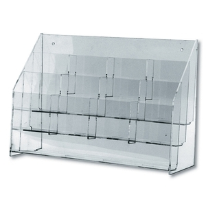 Clear Lucite Multi-pocket Rack 12 Pockets Holds 4""