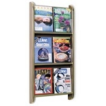 Wm-6v BrochureMagazine Display Mahogany (780 001