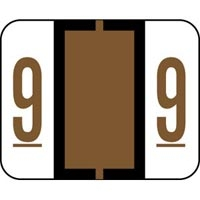 Label '9' Brown TabSmead Bccrn Match 500Pk (787