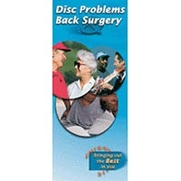 Disc Problems & Back Surgery Brochure 25Package