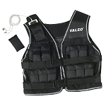 Valeo 20 Lb. Weighted Vest Black with Reflective B