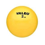 Valeo Weighted Fitness Ball 2 Pound Yellow (849 00