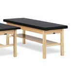 "Bailey Basic Treatment Table with Shelf 2"" Uph Top"