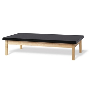"Bailey Basic Mat Table 2"" Uph Top Black (886 0072)"