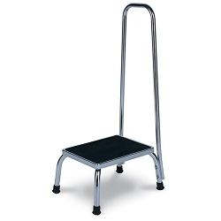 Winco Chrome Steel Footstool With Hand Rail (898 0
