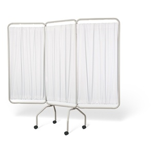 3 Panel Privacy Screen With Casters / White (881 0002)