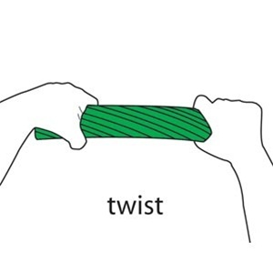 Cando Twist-n-bend Resistive Exercise Bar / Green (845 0136 03)