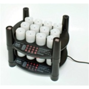Rechargeable Flameless Votive Candles 24 Candles + 2 Stackable Charging Bases (253 0063 02)
