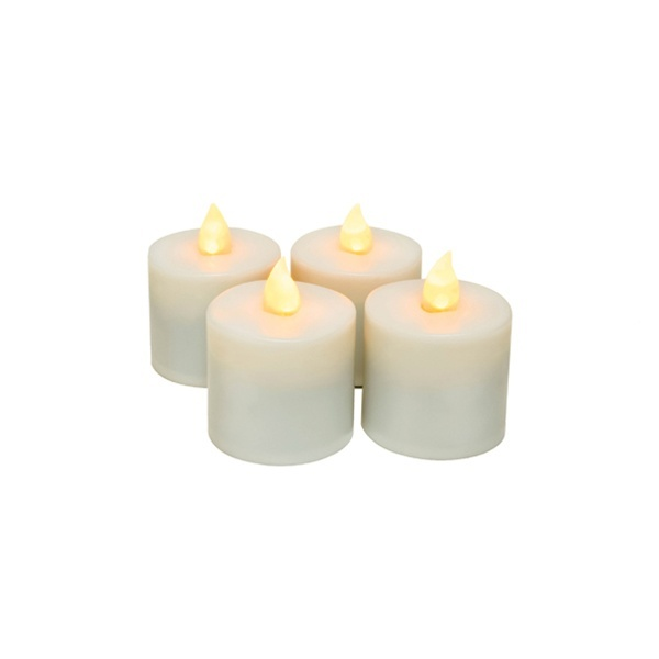Extra Rechargeable Flameless Tea Light Candles - 4 Pack (253 0060)