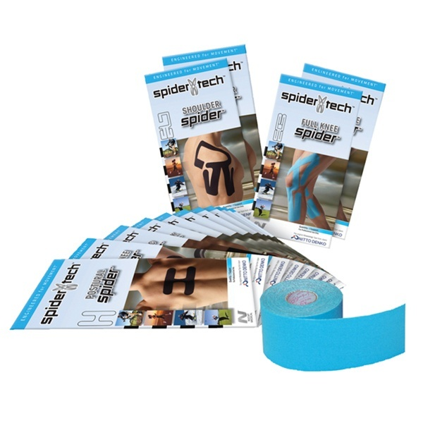 SpiderTech Starter Kit - Kinesiology Sports & Athletic Taping Treatment For Pain Relief