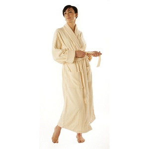 "Velour Shawl Collar Robe /  48""L with 22"" Sleeves"