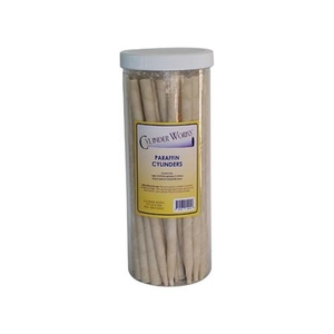 Cylinder Works Paraffin Aromatherapy Candles / White / Pack of 12