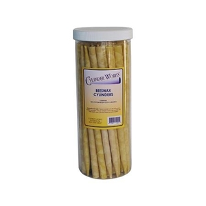 Cylinder Works Beeswax Aromatherapy Candles / Natural Beeswax / Pack of 12