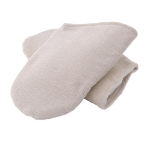 Insulated Terry Velour Mitt, White 1 Pair (273 0154)