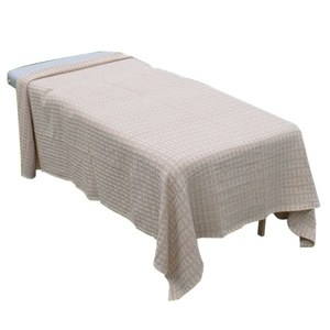 "Waffle Weave Blanket - 100% Cotton - Sage or Tan 66"" x 90"" (055 0015)"
