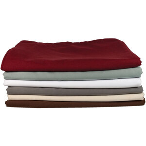 NRG Premium Microfiber Sheet Sets - White, Natural, Dark Chocolate, Merlot, Stone or Ocean 1 Fitted Massage Sheet + 1 Flat Massage Sheet + 1 Crescent Cover 120 GSM (229 0221)