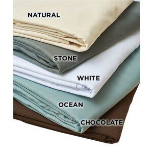 NRG Premium Microfiber Flat Sheets - White Natural Dark Chocolate or Ocean 120 GSM (229 0224)
