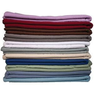 NRG Deluxe Flannel Sheet Sets - White Natural Blue Lavender Twilight Blue Wisteria Sage or Dark Chocolate 200 Thread Count (229 0225)