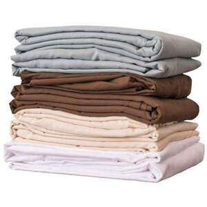 NRG Deluxe Flannel Fitted Sheets - White Natural Dark Chocolate or Ocean 200 Thread Count (229 0227)