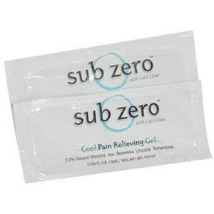 SubZero™ Cool Pain Relieving Gel - Topical Analgesic 5 mL. Sample Packs (228 5019 01)