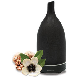 Spa Room™ UltraMist™ Ceramic Diffuser - Black Ultrasonic Diffusing Mister (254 0082 11)