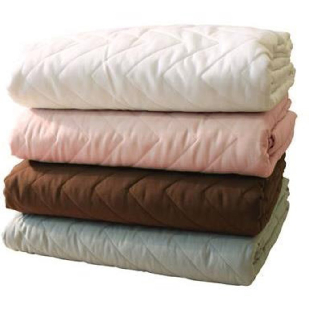 b5c4151515 NRG Premium Microfiber Quilted Blankets - White Natural Dark Chocolate or  Ocean 60
