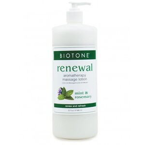 Renewal Aromatherapy Massage Lotion - Mint Rosemary Lemongrass Bergamot Ylang Ylang and Litsea 32 oz. (226 0300 03 03 )