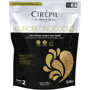 Cirepil Euroblonde Gold Edition - Stripless Hard Wax 1.8 Lbs. - 800 Gram Bag (276 0550)