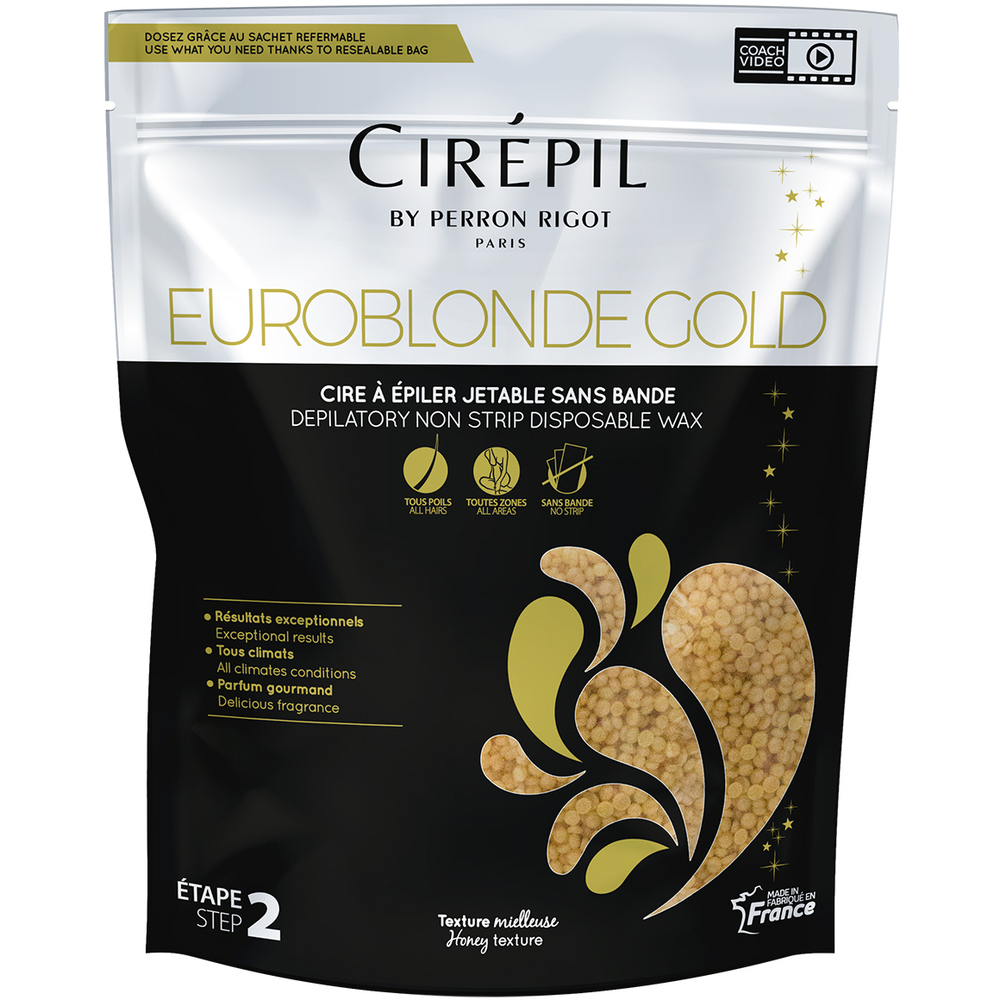 cirepil euroblonde gold edition stripless hard wax 1 8 lbs 800