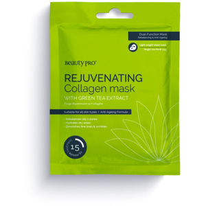 Beauty Pro® Rejuvenating Collagen Sheet Mask with Green Tea Extract 23 Grams (280 0321 02)