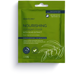 Beauty Pro® Nourishing Collagen Sheet Mask with Olive Extract 23 Grams (280 0321 03)