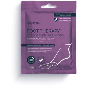 BeautyPro® Foot Therapy Collagen Infused Bootie with Removable Toe Tips 1 Pair (280 0322 07)